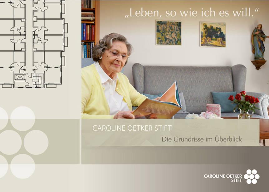 KWA Caroline Oetker Stift Grundrisse Broschüre Titelblatt