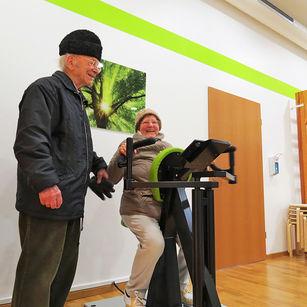 Erstes Training in der Physio am Harthof
