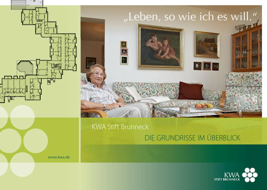 KWA Stift Brunneck in Ottobrunn, Grundrssbroschüre Deckblatt
