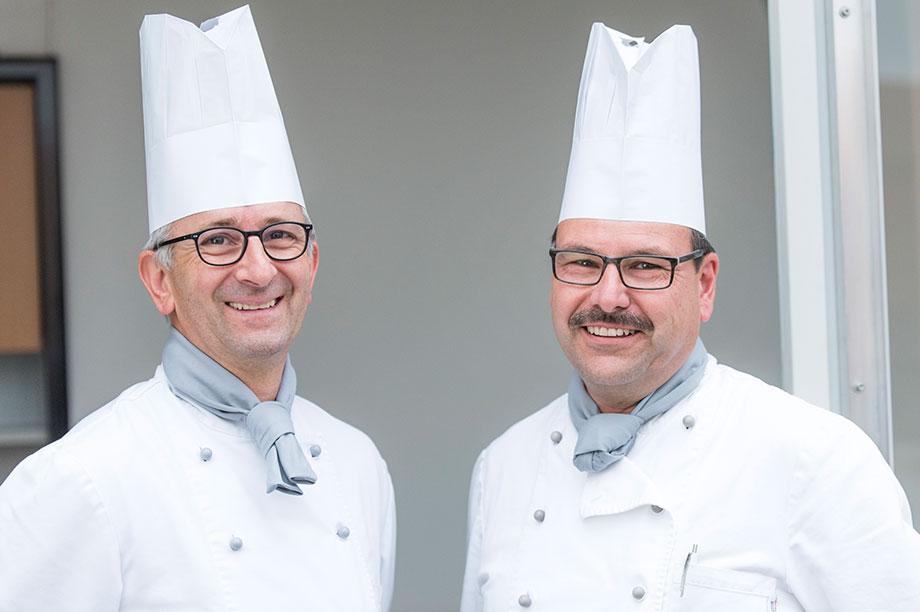 KWA Albstift Aalen: Küchenleiter Georg Tragenkranz und sein Stellvertreter Simon Zenkert