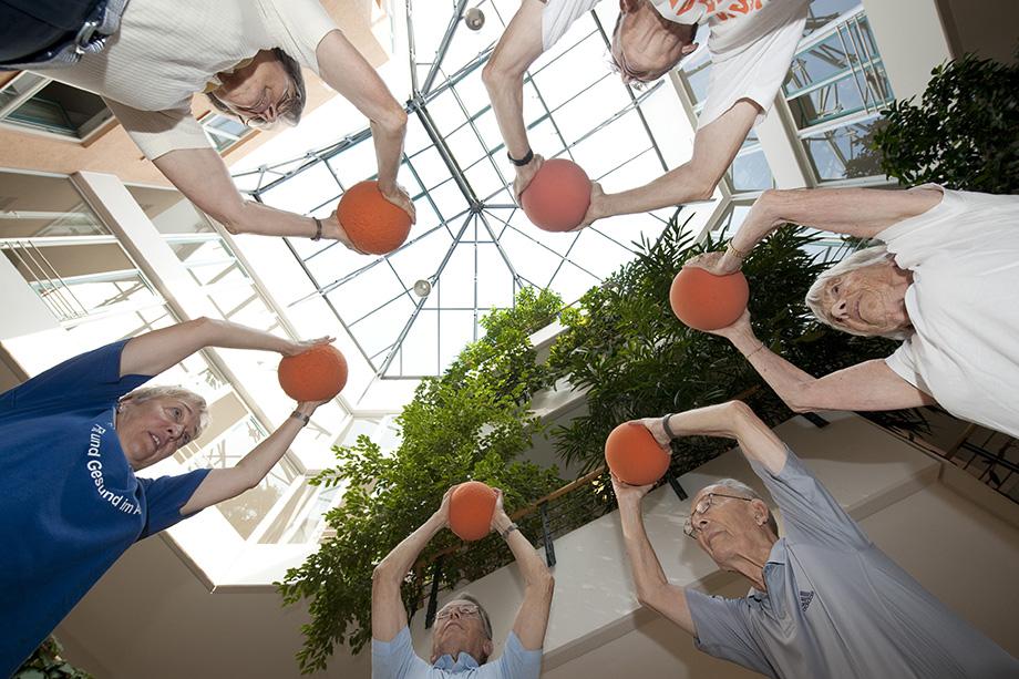 Sport für Senioren im KWA Wohnstift