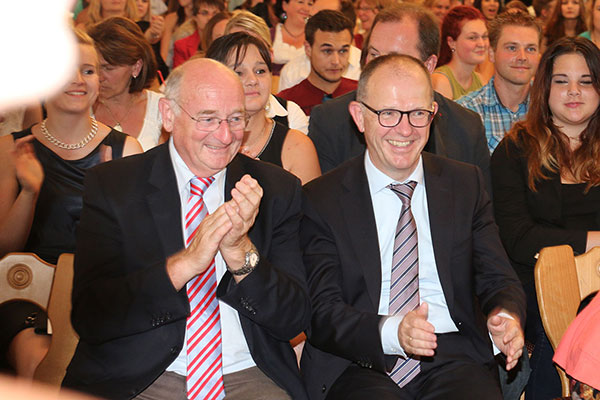 Bürgermeister a. D. Georg Riedel und KWA Vorstand Dr. Stefan Arend
