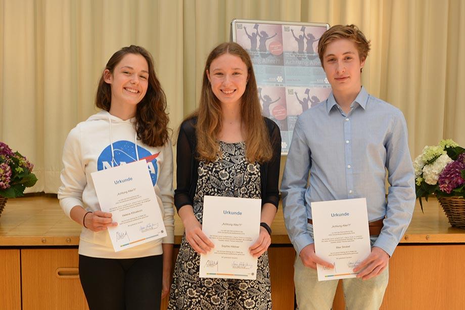 Preisträger des 1. KWA Schülerliteraturwettbewerbs Baden-Baden