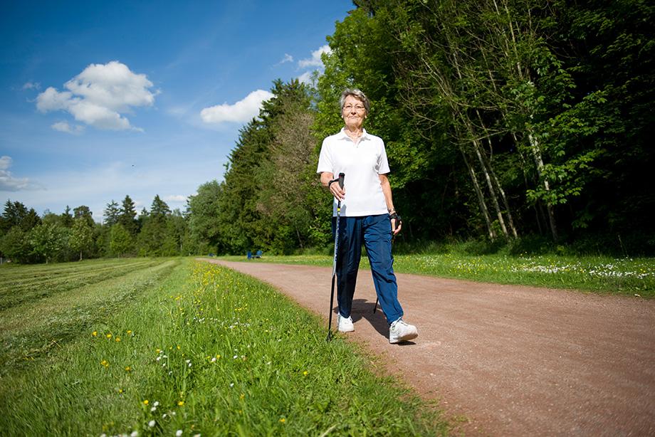 Nur einen Steinwurf vom Kurstift entfernt: gut befestigte Wanderwege