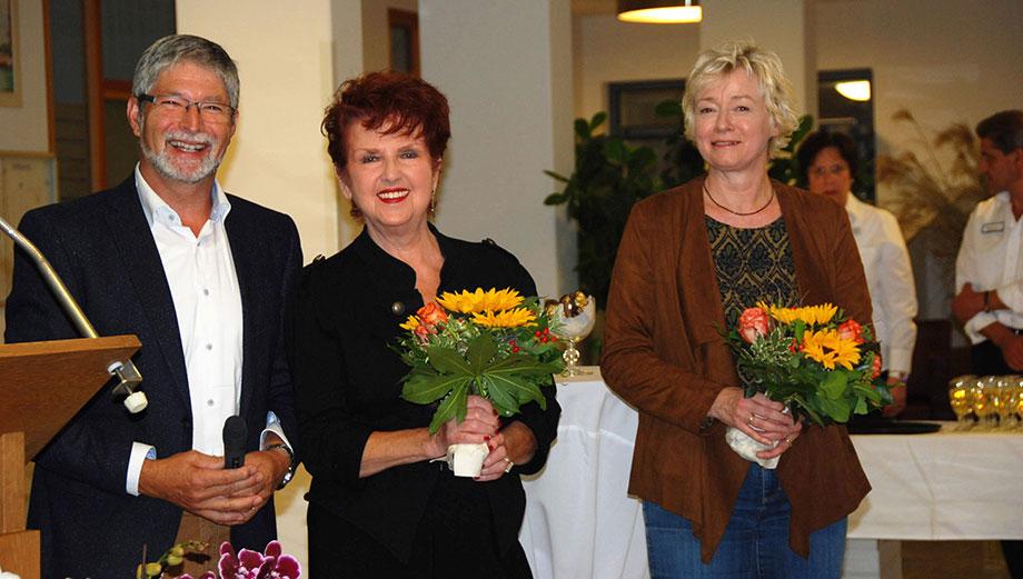 Von links: Stiftsdirektor Herbert Schlecht, Margot Saydan, Susanne Brugger