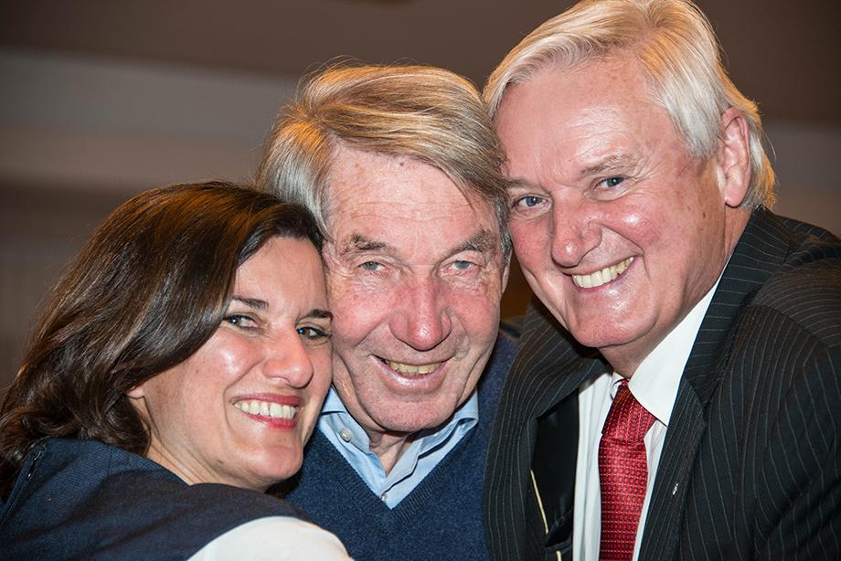 Roland Doschka mit Gästen beim Talk in der Rosenau mit Angela Rosengart