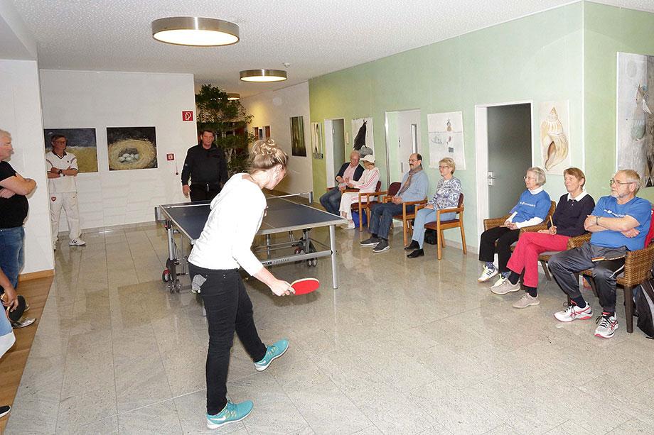 Tischtennisturnier 2017 im KWA Parkstift Rosenau in Konstanz