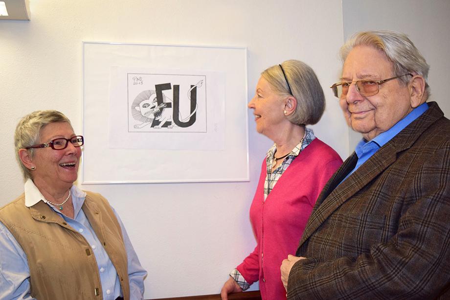 Karikaturist Peter Ohrenschall alias Poll im KWA Stift am Parksee