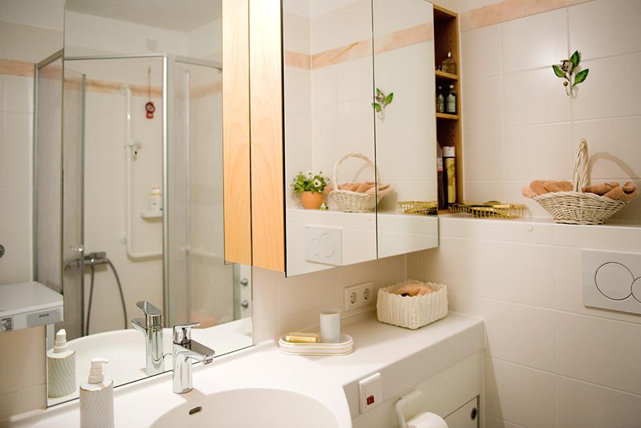 Duschbad in einem KWA Wohnstift