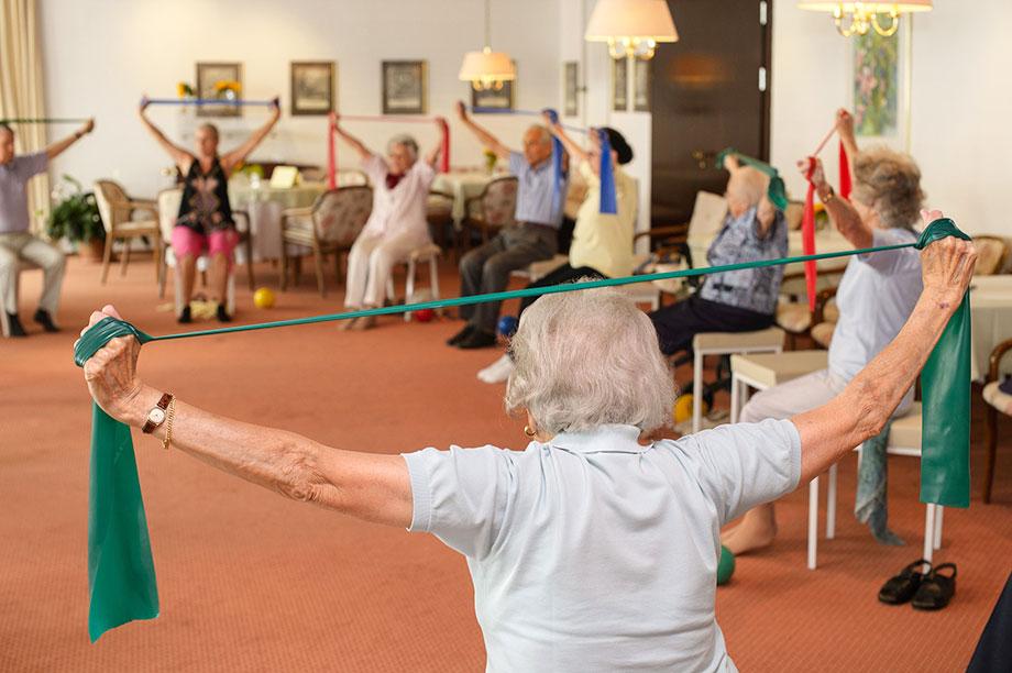 Gymnastik im KWA Stift Rupertihof
