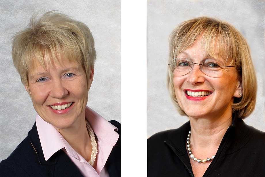 Birgit Wannenmacher (links) und Marina Gernard, Kundenbetreuerinnen im KWA Parkstift Rosenau in Konstanz