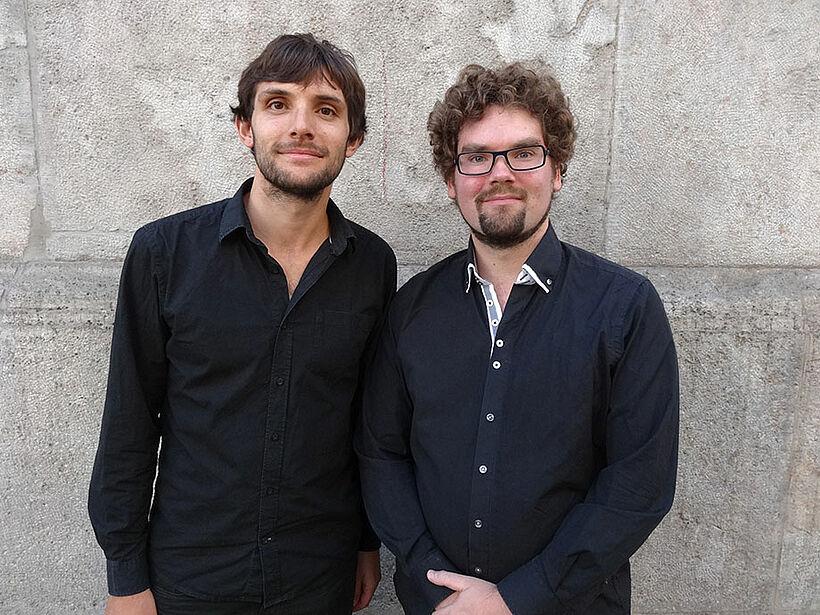 Maruan Sakas (links im Bild, Pianist) und Hendrik Blumenroth (Cellist) präsentierten unter anderem Sonaten von Antonio Vivaldi, Ludwig v. Beethoven und Johannes Brahms.