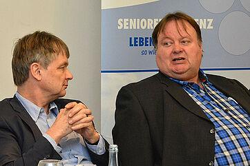Thomas Klie (links) mit Arzt Michael Maas