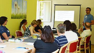 Florian Wernicke diskutierte mit den Teilnehmern des Fachtags über ethische Fragen