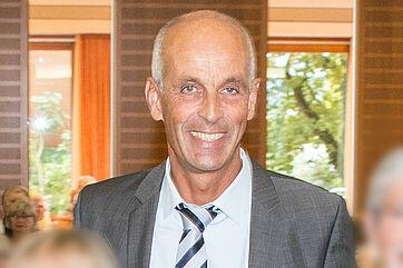 Claudius Marx, Hauptgeschäftsführer der IHK Hochrhein-Bodensee, beim Talk im KWA Parkstift Rosenau in Konstanz