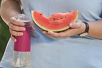 Sehr empfehlenswert an heißen Tagen: Melonen, Wasser und flüssigkeitsreiche Nahrung