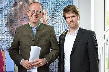 KWA Vorstand Dr. Stefan Arend (links) und Fotograf Anton Krämer