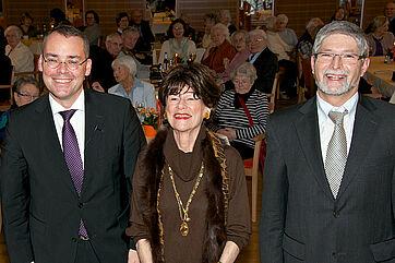 von links: Minister Peter Friedrich, Moderatorin Monique Würtz, Hausleiter Herbert Schlecht