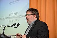Prof. Dr. Andreas Büscher von der Hochschule Osnabrück, als Referent beim KWA Symposium 2ß19 in Berlin