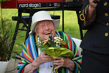 Die 107-jährige Bewohnerin