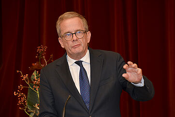 Der Gerontologe Prof. Dr. Dr. h.c. Andreas Kruse griff mit seiner Festrede wesentliche Aspekte auf, die für hochbetagte Menschen bedeutsam sind.