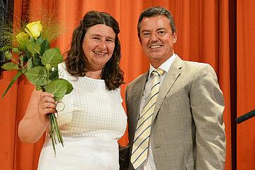 Stiftsdirektorin Anja Schilling und Bad Krozingens Bürgermeister Volker Kieber