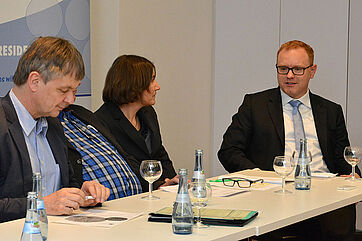 Diskussionsbeitrag von Rüdiger Kucher (rechts), Kassenärztliche Vereinigung Baden-Württemberg