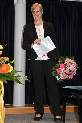 Andrea Wurm: die neue Stiftsdirektorin im KWA Albstift Aalen. Seit Oktober 2000 leitete sie hier die Hauswirtschaft, seit 2009 den Bereich Hauswirtschaft für ganz KWA.