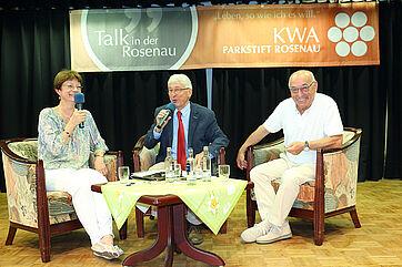 Talk im KWA Parkstift Rosenau in Konstanz mit Anne und Luigi Pesaro
