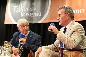 Talk im KWA Parkstift Rosenau in Konstanz mit EU-Kommissar Günther Oettinger - moderiert von Stephan Schmutz