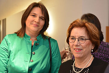 V. l. Claudia Köhler (MdL), Dr. Christine Helming (3. Bgm. von Unterhaching)