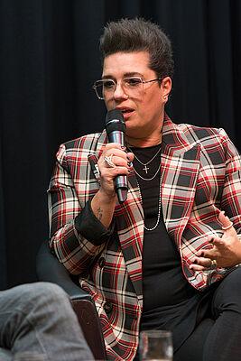 """Britta March, Leiterin des Referats Pflege bei der AOK Baden-Württemberg, berichtete über einen Modellversuch und """"Projektitis""""."""
