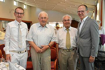 Von links: Prof. Dr. Ekkehart Meroth, Linus Grethler, Ernst Steinbrunner, Dr. Stefan Arend