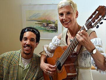 Stiftsdirektorin Gisela Hüttis und der Pianist Jay Julian Montague waren ein gut eingespieltes Duo.