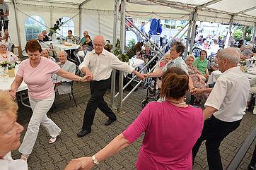 Tanzgruppe des Wohnstifts