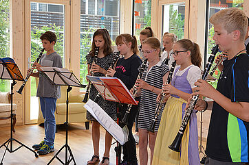 Klarinettenklasse der Musikschule Tegernseer Tal