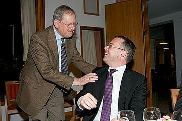 Einige Gäste begrüßten Peter Friedrich persönlich