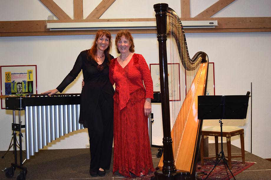 Duo ARPARIMBA mit Marimba und Harfe von Barock bis Ragtime - Babette und Gudrun Haag