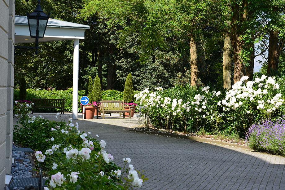 Rabatten mit Blütenflor: so schön wie in englischen Rosengärten.